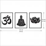 สติกเกอร์ติดผนัง Om Ohm Buddha Lotus Buddhism Symbol Wall Sticker