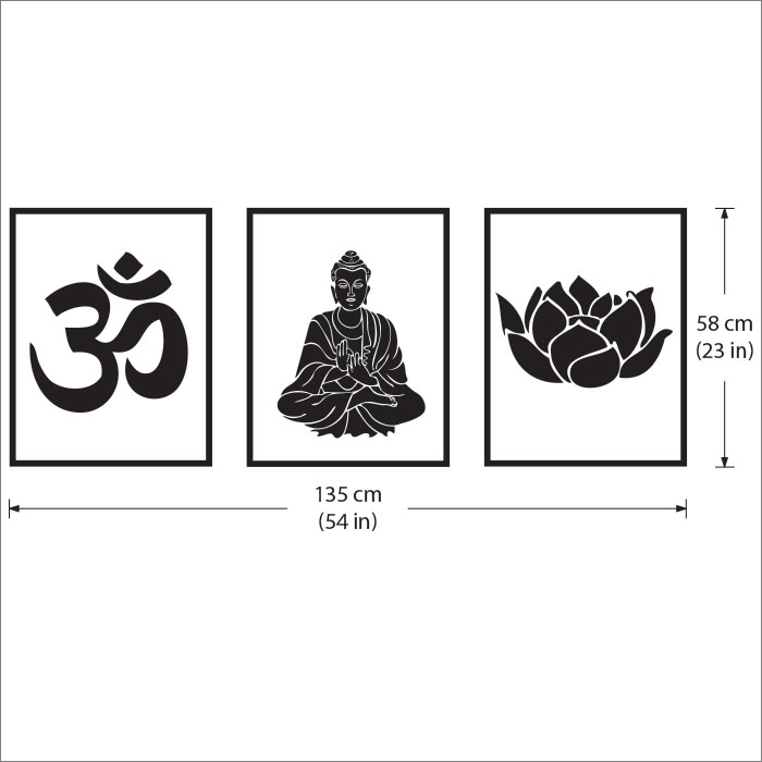 Om Ohm Buddha Lotus Buddhism Symbol Vinyl Wall Art Decal