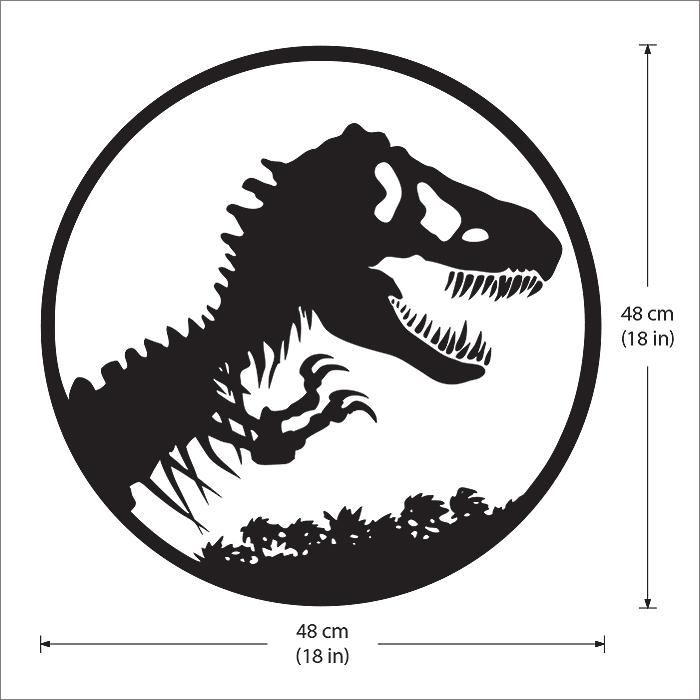 Jurassic Park Logo Vinyl Wall Art Decal