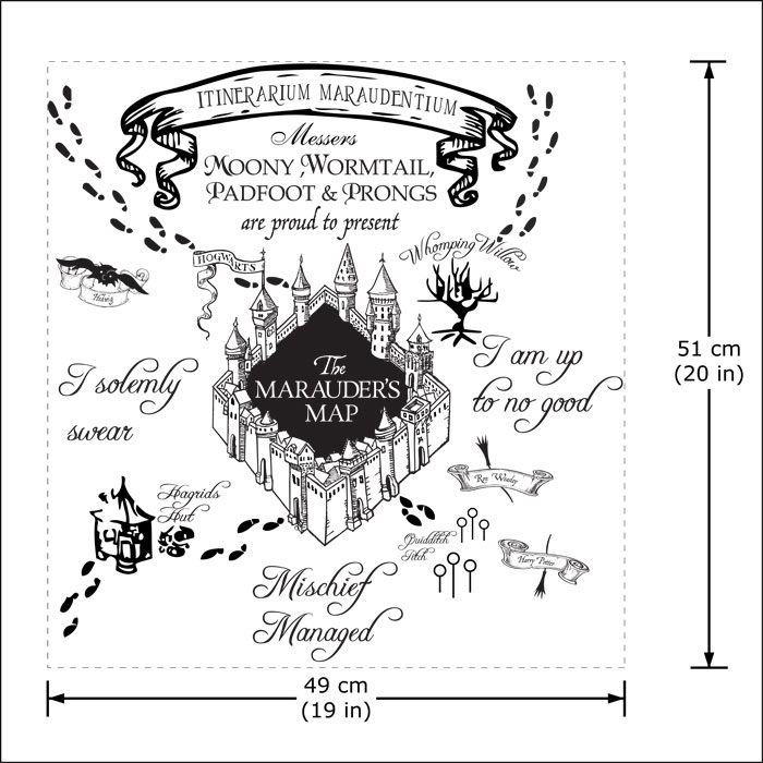 The marauder's Map Harry Potter v1 Vinyl Wall Art Decal (WD-0786) on map facebook covers, map wall mirror, map wall artwork, west point decal, diamond window decal, map wallpaper, wrench decal, map wall graphics, pirate life decal, map wall clock, trd hood decal, map paper, map united states football league, map wall mural, map your neighborhood, map with title, map shirt, nautical compass decal, wwp decal, map kashmir conflict,