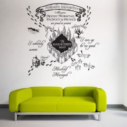 The marauder's Map Harry Potter v1 Vinyl Wall Art Decal (WD-0786)