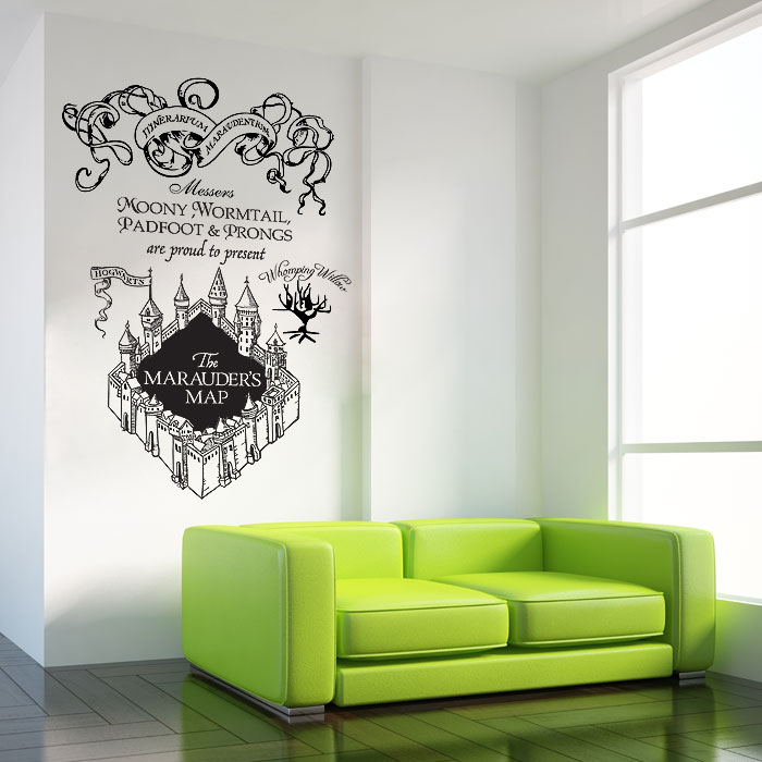 & The marauderu0027s Map Harry Potter v2 Vinyl Wall Art Decal