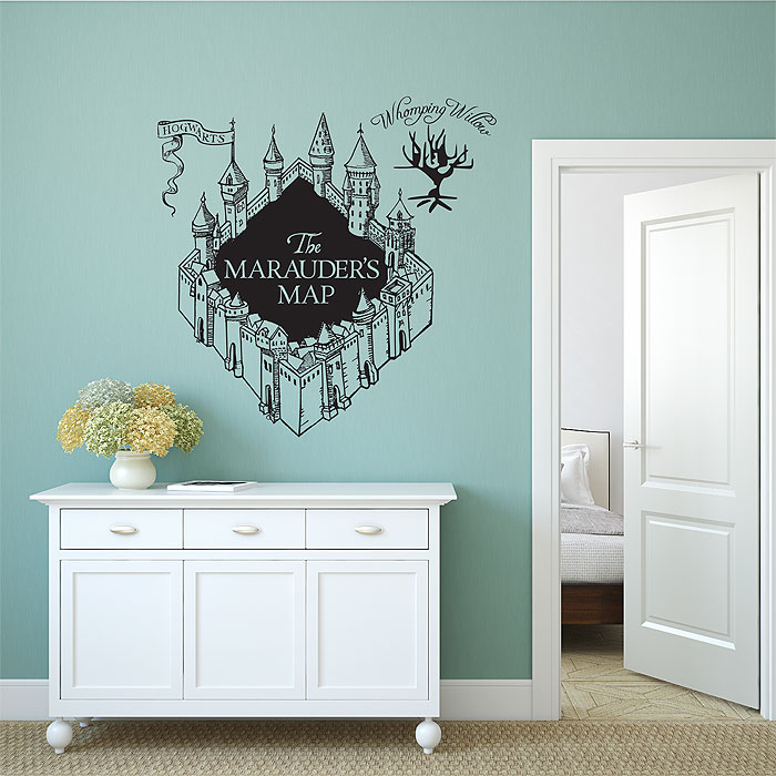 The Marauderu0027s Map Harry Potter V3 Vinyl Wall Art Decal