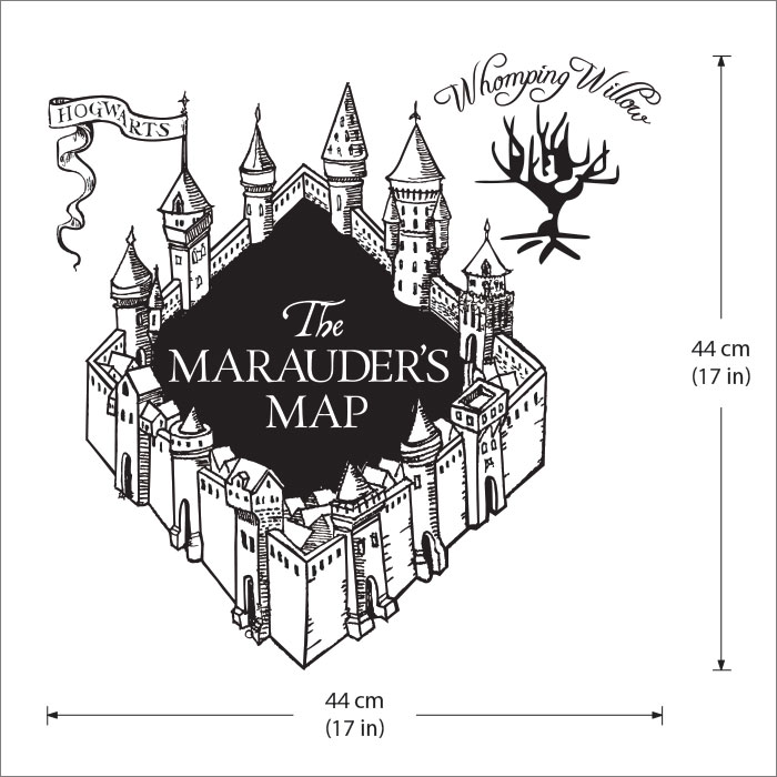 The Marauder S Map Harry Potter V3 Vinyl Wall Art Decal
