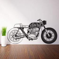 Retro Motorcycle Spirit Vinyl Wall Art Decal (WD-0792)