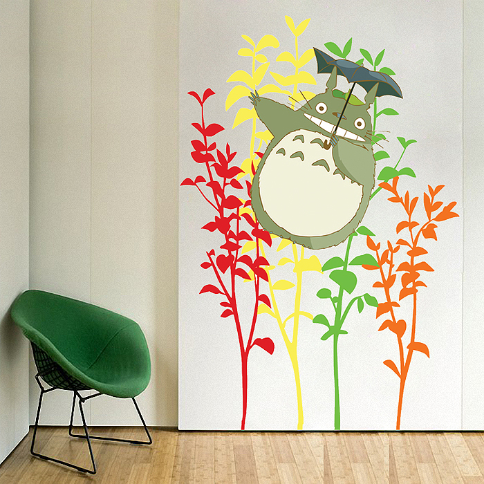 Elegant My Neighbor Totoro Vinyl Wall Art Decal