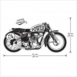 Classic Motorcycle Power Vinyl Wall Art Decal