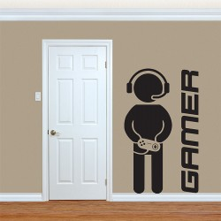 สติกเกอร์ติดผนัง Gamer Wall Sticker (WD-0803)