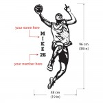 Personalized Basketball Player with Custom name decal