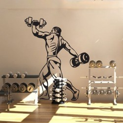 Powerlifting and Bodybuilding Vinyl Wall Art Decal (WD-0805)
