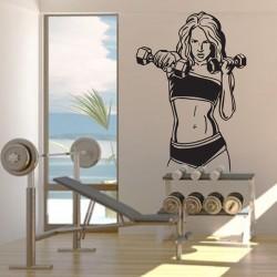 Bodybuilding Woman Vinyl Wall Art Decal (WD-0806)