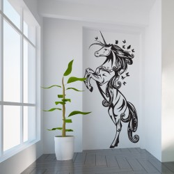 Unicorn Beautiful Vinyl Wall Art Decal (WD-0812)