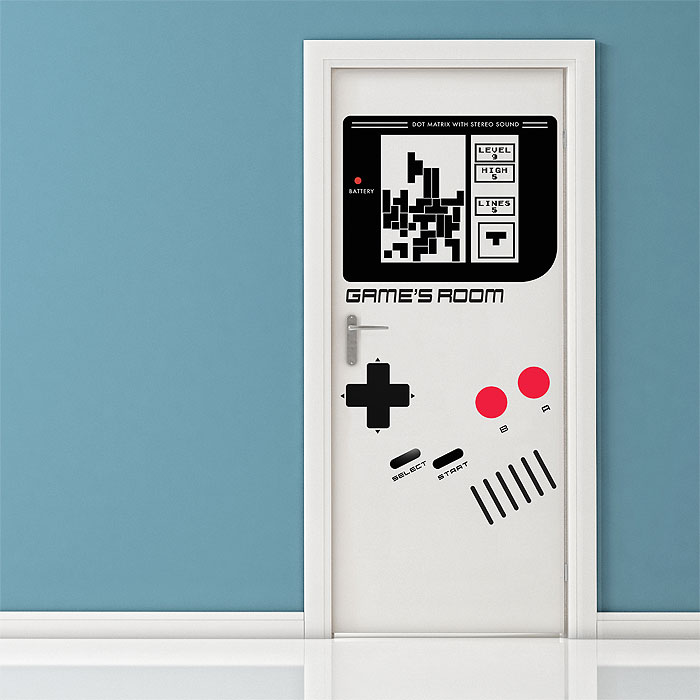 gameboy classic door vinyl wall art decal