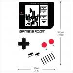 สติกเกอร์ติดผนังประตูเกมส์บอย Gameboy Classic Door Wall Sticker