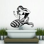สติกเกอร์ติดผนังนางเงือก Siren Mermaid Wall Sticker