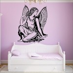 สติกเกอร์ติดผนัง ภาพนางฟ้า Angel Wall Sticker