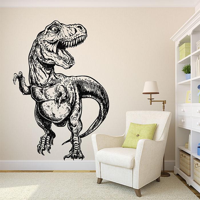 t-rex dinosaur vinyl wall art decal