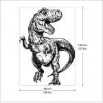 สติกเกอร์ติดผนังไดโนเสาร์ ทีเร็กซ์ T-Rex Wall Sticker