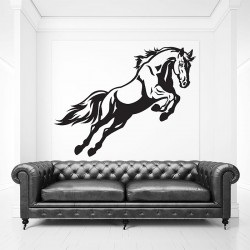 Jumping Horse Vinyl Wall Art Decal (WD-0821)