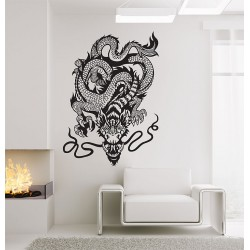 Chinese Dragon Vinyl Wall Art Decal (WD-0822)