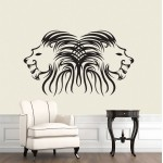 สติกเกอร์ติดผนัง หัวสิงโต Lion Head Wall Sticker