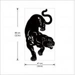 สติกเกอร์ติดผนังเสีือดำ black panther Wall Sticker