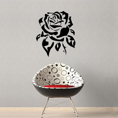 สติกเกอร์ติดผนัง ภาพ ดอกกุหลาบ Rose Wall Sticker