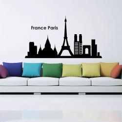 สติกเกอร์ติดผนัง เมืองฝรั่งเศส ปารีส France Paris SKyline Silhouette Wall Sticker (WD-0834)