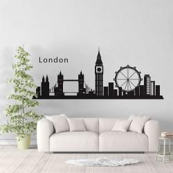 สติกเกอร์ติดผนัง ลอนดอน ประเทศอังกฤษ London Skyline City Silhouette Wall Sticker (WD-0836)