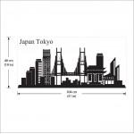 สติกเกอร์ติดผนัง กรุงโตเกียว ประเทศญี่ปุ่น Japan Tokyo skyline City Silhouette Wall Sticker