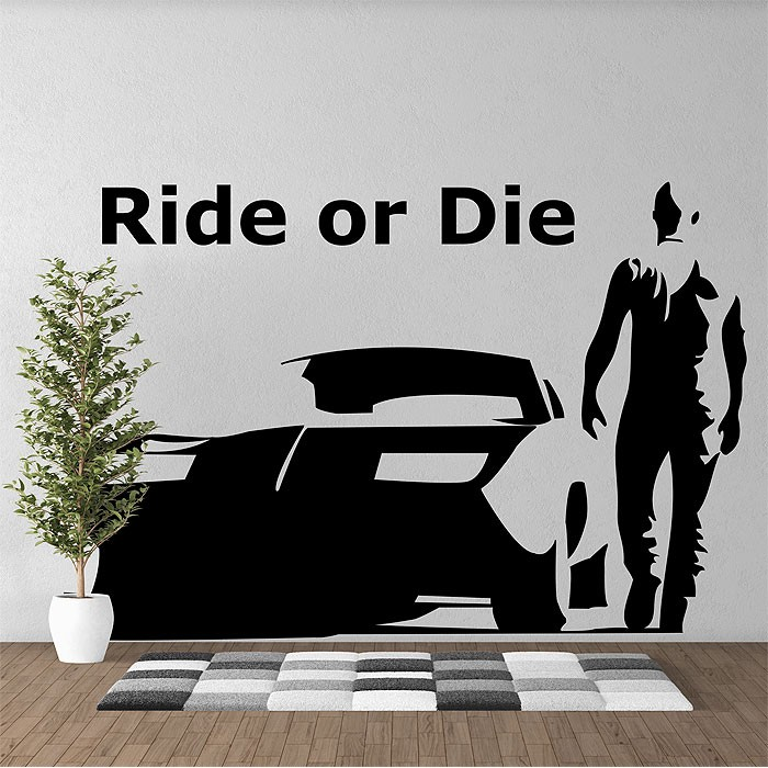 Wall Art Decal or die toretto vinyl wall art decal