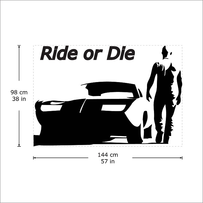 Ride or die toretto wandaufkleber wandtattoo for Fast and furious tattoo