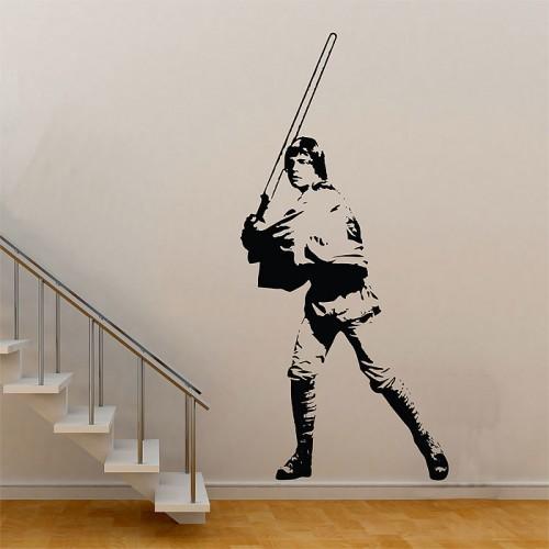 สติกเกอร์ติดผนังสตาร์ วอร์ส Star Wars Luke Skywalker Wall Sticker