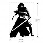 สติกเกอร์ติดผนัง สตาร์ วอร์ส Kylo Ren Star Wars Wall Sticker