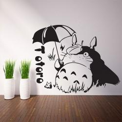 สติกเกอร์ติดผนัง ภาพโทโทโร่ Totoro Wall Sticker (WD-0858)