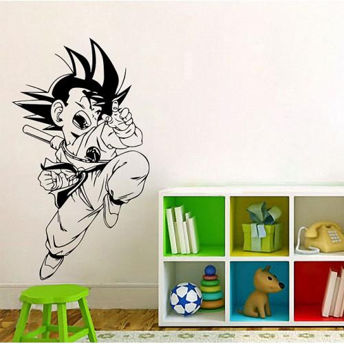 สติกเกอร์ติดผนัง ดราก้อนบอลDragonball Goku kid Wall Sticker
