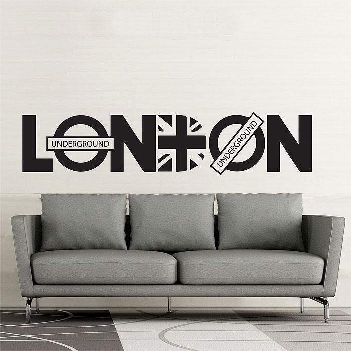 london font vinyl wall art decal
