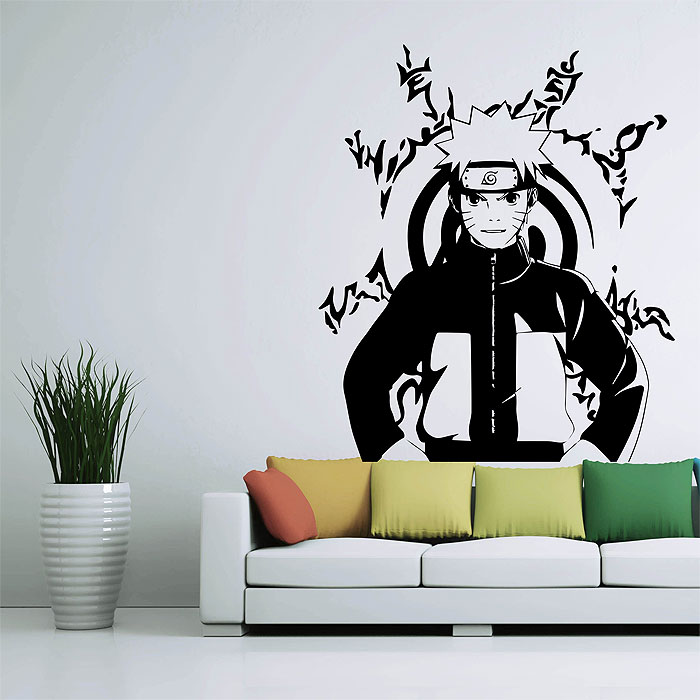 Simple 20 tattoo wall art design decoration of 41 tattoo for Mural naruto