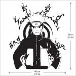 สติกเกอร์ติดผนังนินจานารูโตะ Naruto Wall Sticker