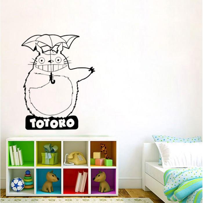 Charming Totoro Vinyl Wall Art Decal