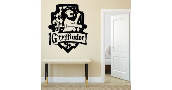Wall Art Stickers Harry Potter : Harry potter gryffindor house vinyl wall art decal