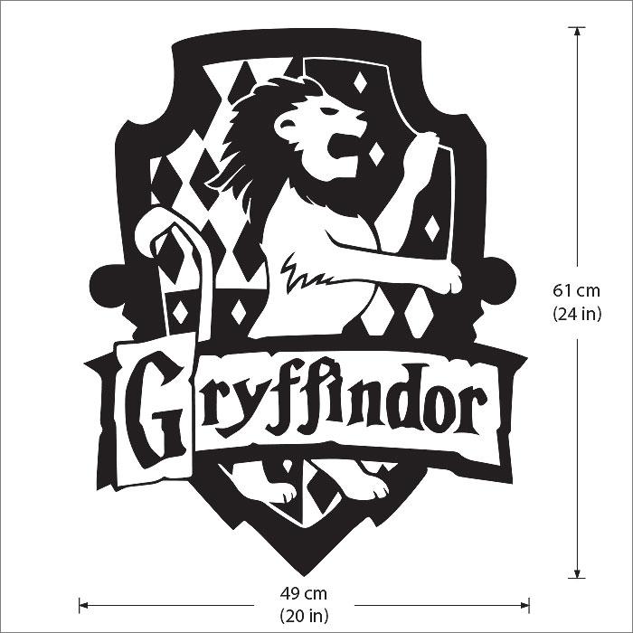 Harry Potter Gryffindor House Vinyl Wall Art Decal