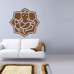 สติกเกอร์ติดผนัง Ganesha Silhouette Wall Sticker (WD-0879)