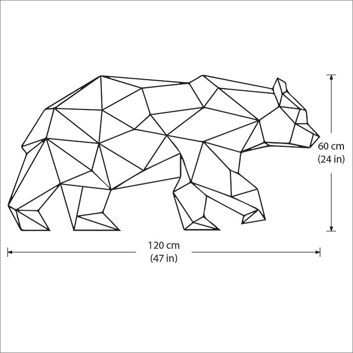 Bear Wall Art polygon bear vinyl wall art decal
