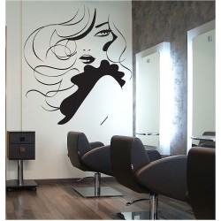 Face girl hair Beauty SalonVinyl Wall Art Decal (WD-0883)
