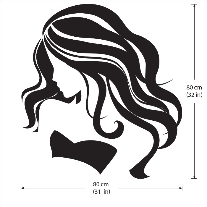 Beauty salon etsy housewares vinyl decal beautiful with - Stickers salon design ...