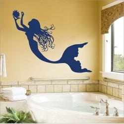 สติกเกอร์ติดผนังนางเงือก เมอร์เมด Mermaid Wall Sticker (WD-0887)