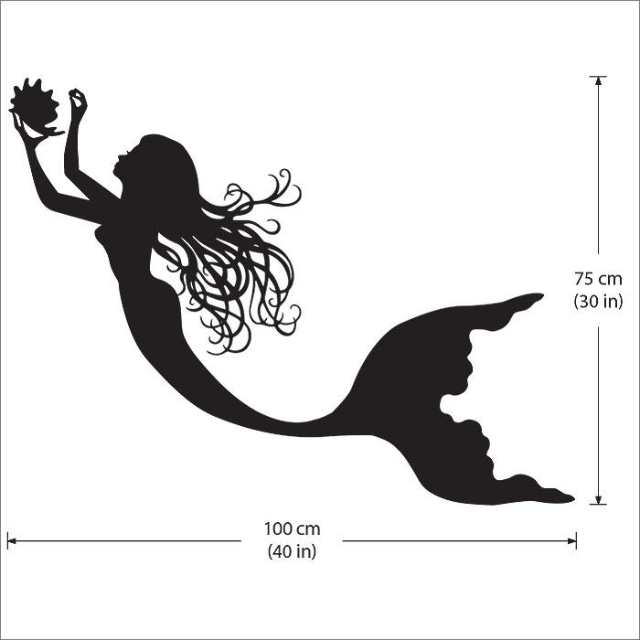 Mermaid Vinyl Wall Art Decal Part 43