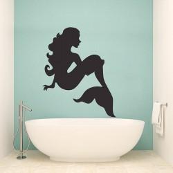 สติกเกอร์ติดผนังนางเงือก เมอร์เมด Mermaid Wall Sticker (WD-0889)