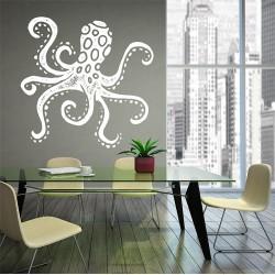 สติกเกอร์ติดผนังปลาหมึกยัก Octopus Wall Sticker (WD-0892)